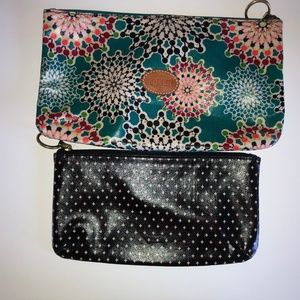 Fossil Bags - Fossil Coated Canvas Makeup Pouches (2 pouches)